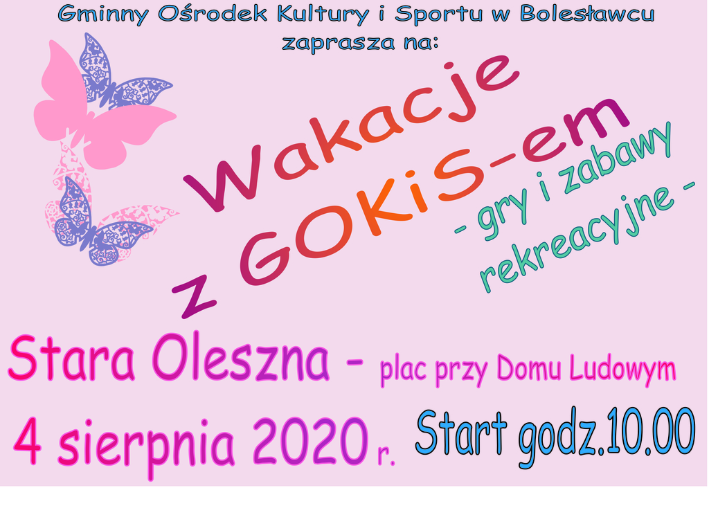 Plakat - Wakacje 2020 Stara Oleszna.jpeg