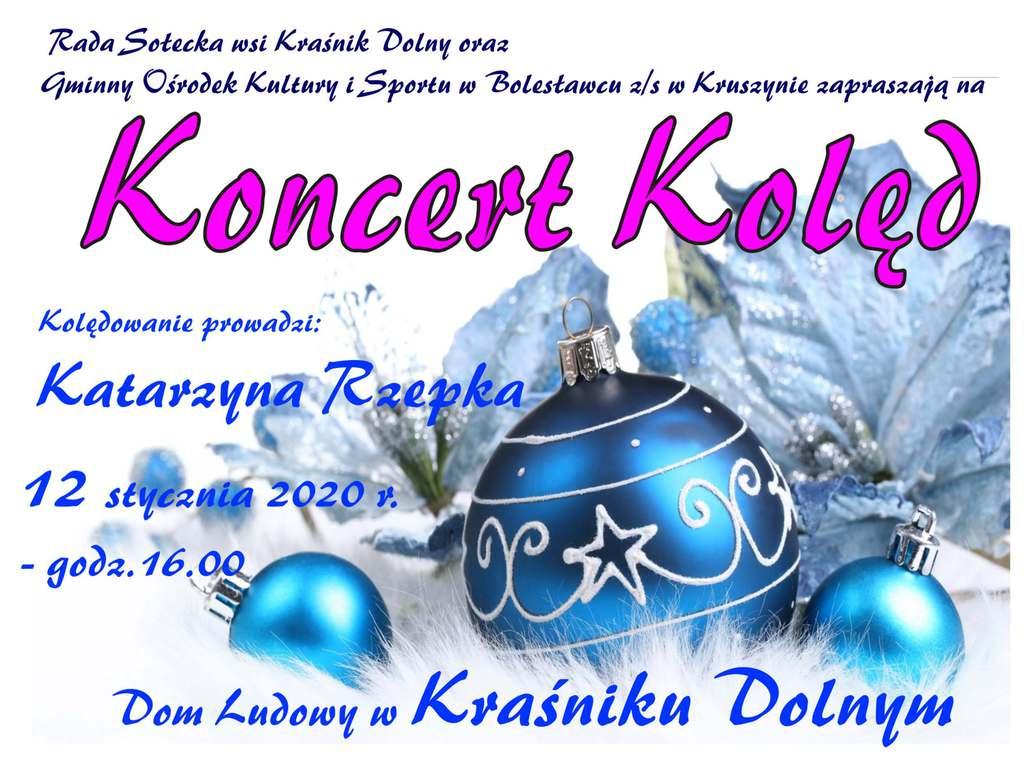 plakat Koncert Kolęd Kraśnik Dolny