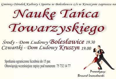 Plakat Taniec towarzyski Bolesławice i Kruszyn.jpeg